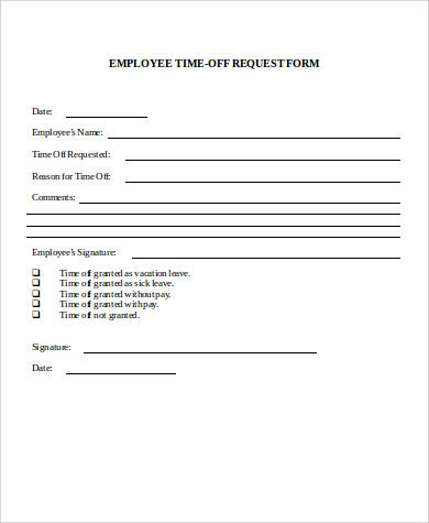 Example Of Leave Form Sample Annual Leave Request Form Sample