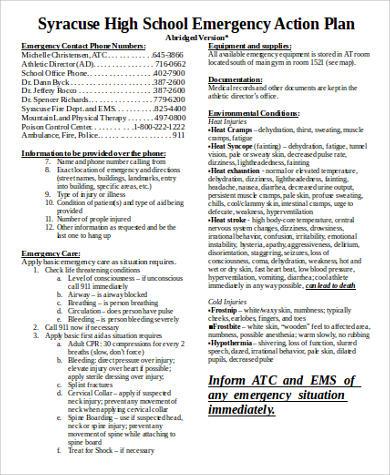 school emergency action plan