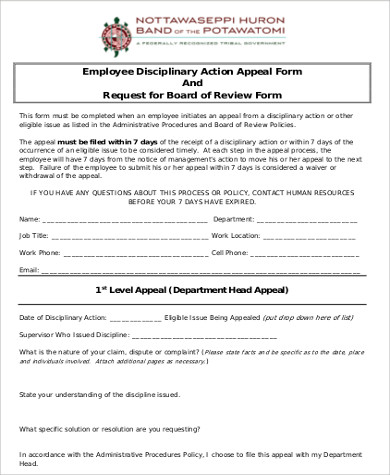Sample Employee Disciplinary Action Form - 7+ Examples In Word, Pdf