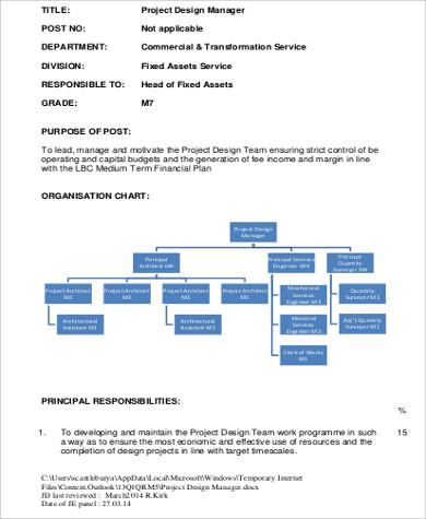 construction design management job description