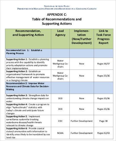 draft national action plan