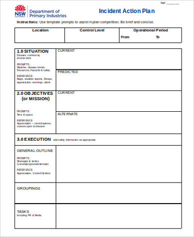 Action Plan Blank Template
