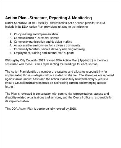 disability discrimination action plan