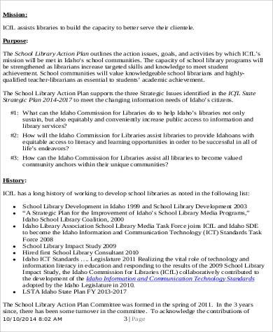Sample School Action Plan  Free Sample Example Format Download
