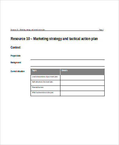 marketing strategy action plan