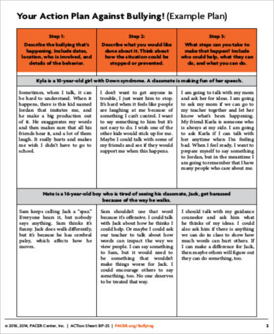 Sample Personal Action Plan Career Plan Template Pdf Sample Career