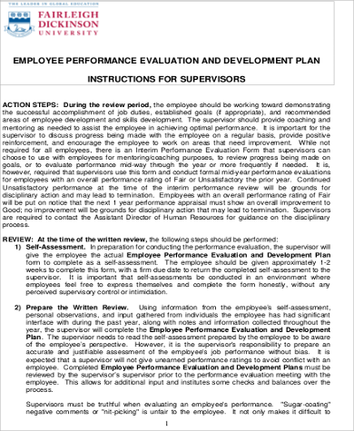 Employee Development Plan Example - 6+ Examples in Word, PDF