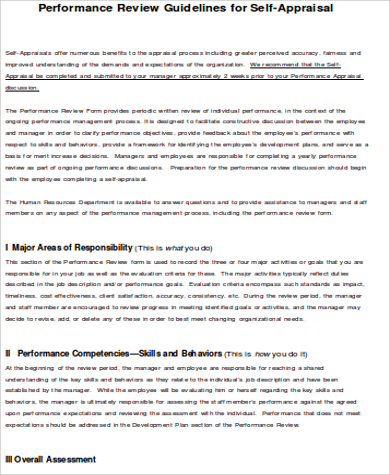 employee performance self assessment form doc