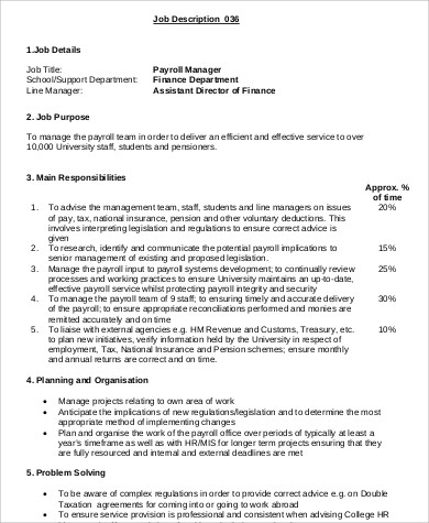 Project Director Job Description Senior Project Director Job