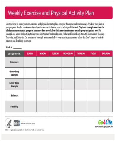 Weekly Exercise Plans. 5-Week Training Plan For Beginners Start