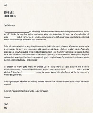 donation fundraising letter