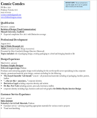 Sample Art Resume - 9+ Examples in Word, PDF