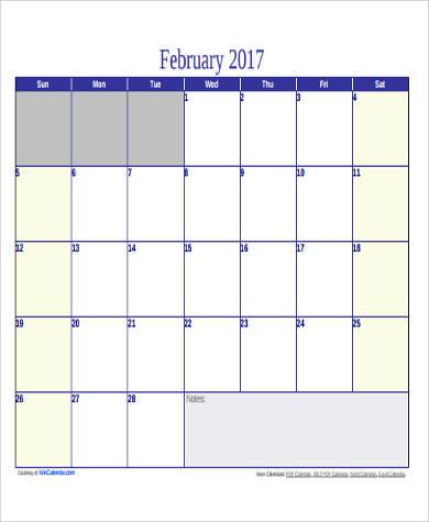 blank printable calendar pdf