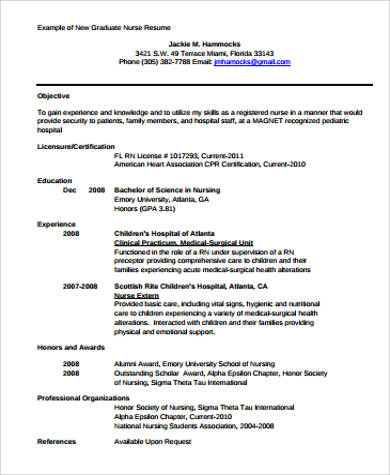resume objective samples resume objective examples download