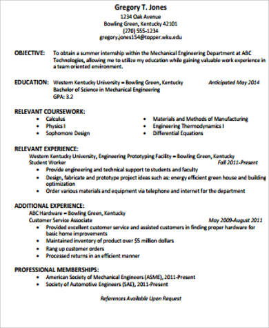 Good Internship Resume Sample U2013 Career Enter