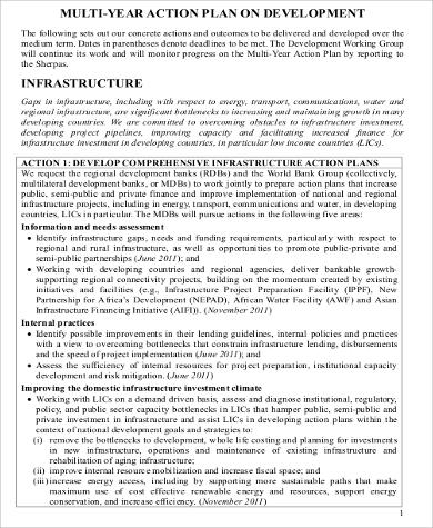 multi year action plan for development