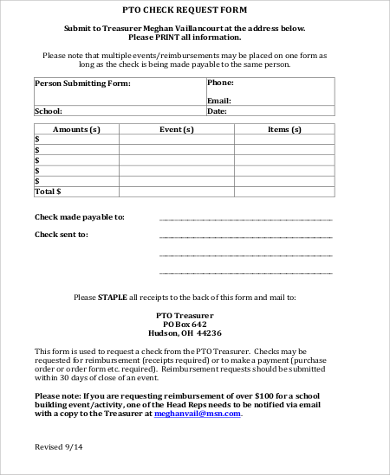 pto check request form printable