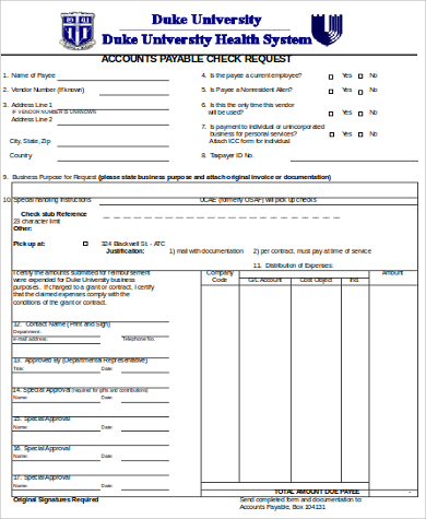 accounts payable check request form