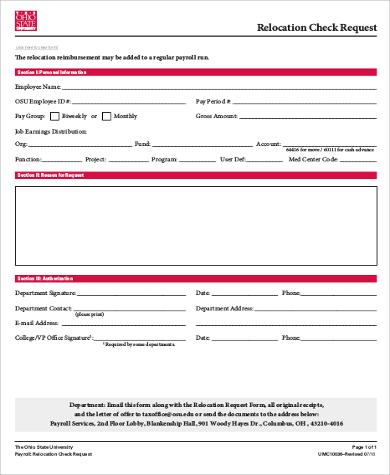 relocation check request form pdf