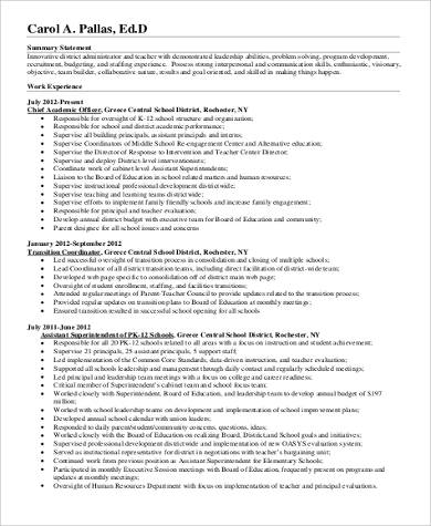 director of human resource resume pdf