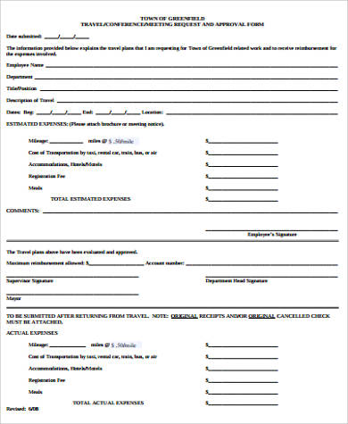 travel approval request form