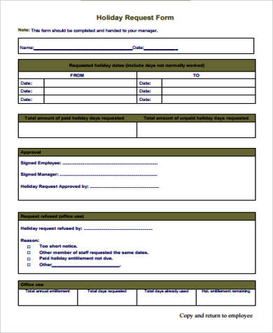 Sample Request Form   Examples In Word Pdf