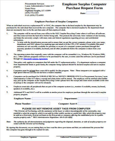 Sample Purchase Request Form   10+ Examples In Word, Pdf