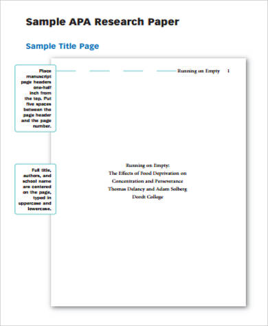 Sample-APA-Research-Paper Sample Apa Reshearch Format Example Paper on