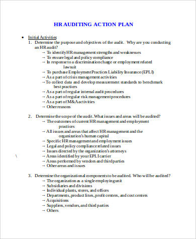 Example Of Action Plan   Samples In Word Pdf