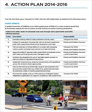 pedestrian safety action plan