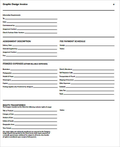 simple graphic design invoice