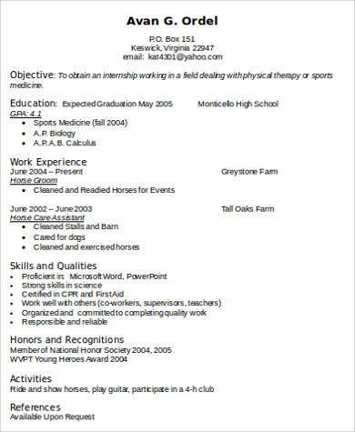 physical therapist skills resume format