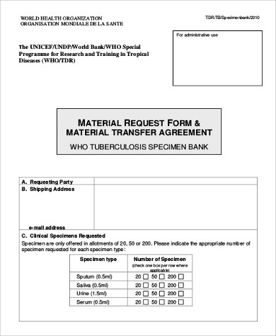 Sample Material Request Form - 10+ Examples In Word, Pdf