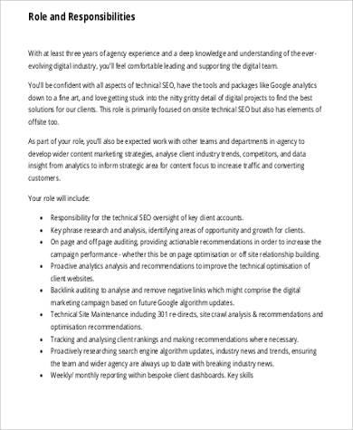 digital marketing consultant job description pdf