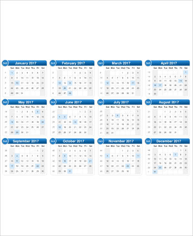 daily holiday calendar printable pdf