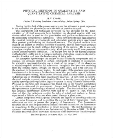 quantitative chemical analysis example