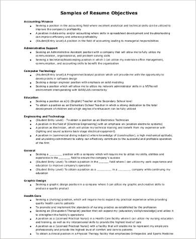 accountant resume career objective pdf
