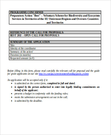 final grant application form doc