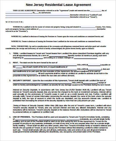 Sample Lease Agreement - 42+ Examples In Word, Pdf