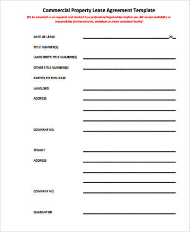 Sample Lease Agreement   Examples In Word Pdf