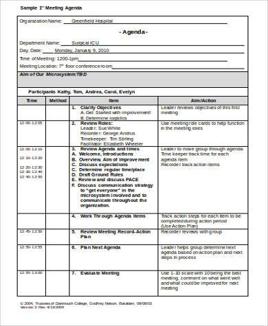 sample meeting agenda format1