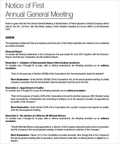 Agenda for agm template gallery template design ideas agenda format sample 30 examples in word pdf first annual general meeting agenda format maxwellsz altavistaventures Gallery