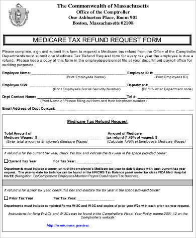 Sample Refund Request Form - 9+ Examples in Word, PDF