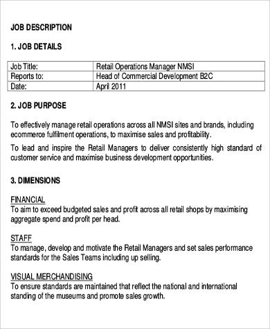 Retail Manager Job Description Retail Banking Sales Manager Job