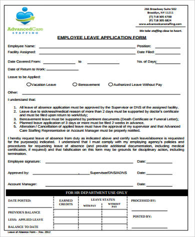 Sample Leave Form. Personal Certification Fmla Faq: Can An