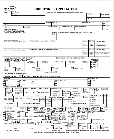 accord home owner application form