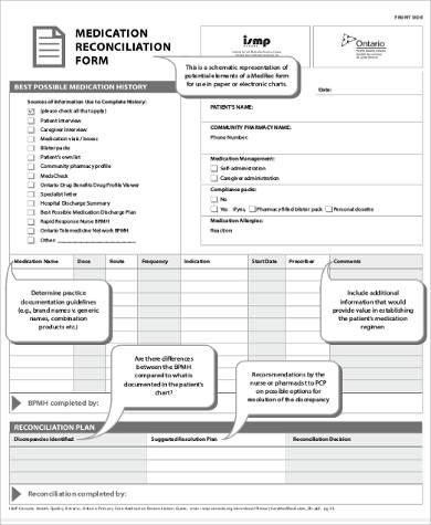 system based medication reconciliation form pdf