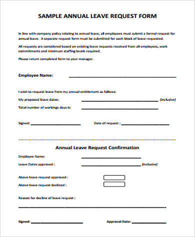 Employee Leave Request Form  PetitComingoutpolyCo