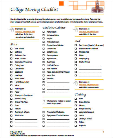 Divine image within moving checklist printable