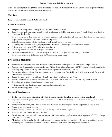 senior retail associate job description1